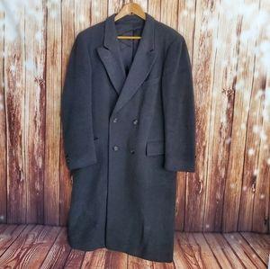 Guy Laroche Trech Coat 40 Gray Wool